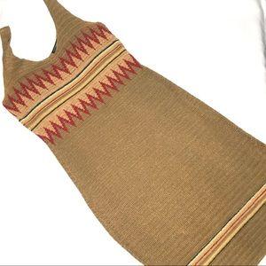 Lauren Ralph Lauren Boho Crochet Knit Dress Large